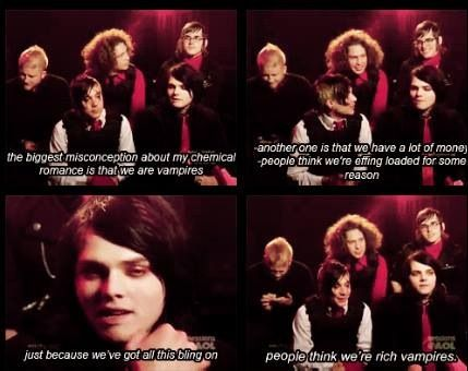 "My Chemical Romance ""Either Or"" interview. Funny!"