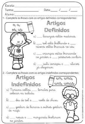 Prova de portugues sobre substantivos