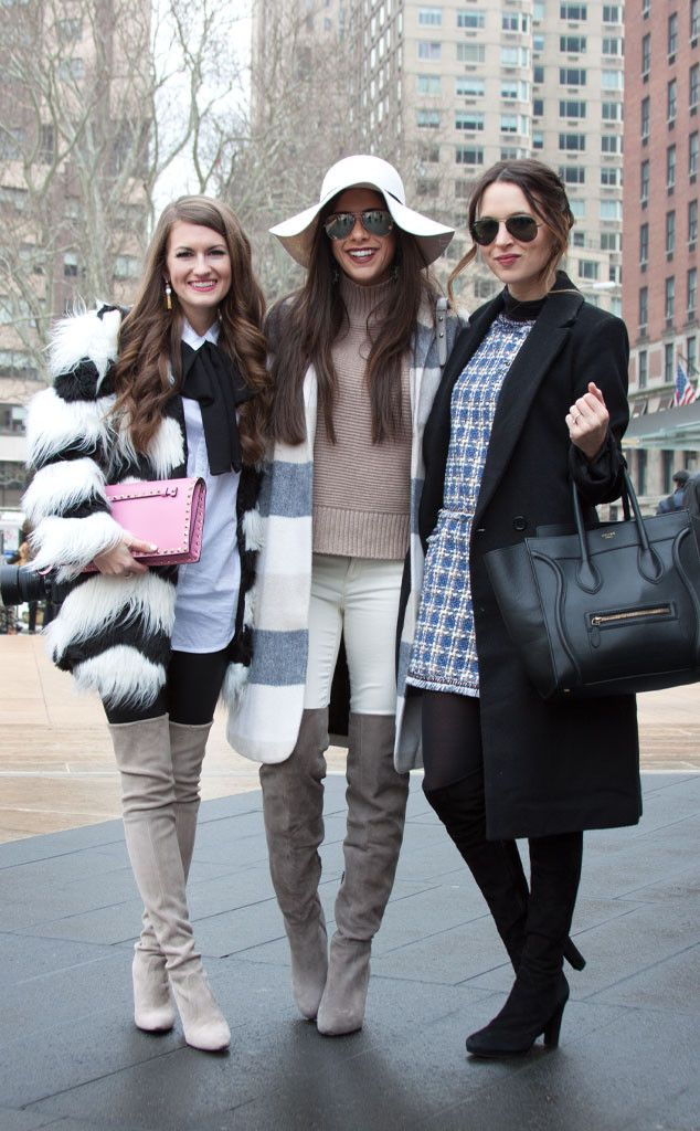 Caitlin Covington, Emily Gemma & Christina DeFilippo from Street Style at New York Fashion Week Fall 2015