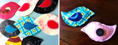 fabric scrap birdies!: Birdie Magnets, Scrap Basket, Birds Magnets, Scrap Fabric, Baskets, Bird Magnets, Fabric Birds, Fabric Scraps