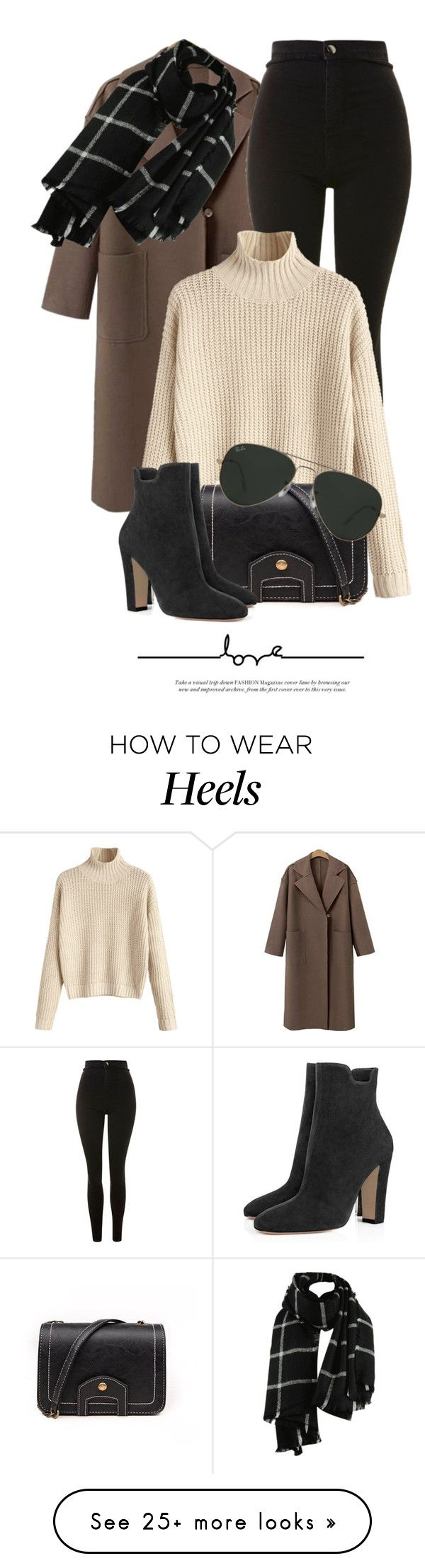 """Untitled #6307"" by monmondefou on Polyvore featuring Topshop and Ray-Ban"