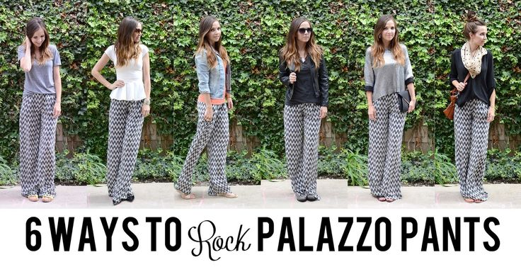 6 WAYS TO ROCK PALAZZO PANTS: casual / chic / date night / edgy / dressy / boho. No matter your style, there's a look for you.