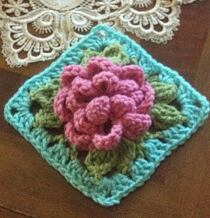 Free Crochet Pattern For Cabbage Rose : 17 Best images about granny squares on Pinterest Free ...