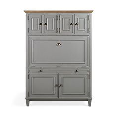 Alderson Computer Cabinet in Stratus and Chatham Grey