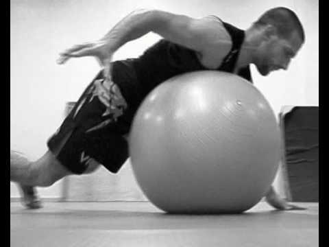 MMA and brazilian jiu jitsu Stability training with a swiss ball