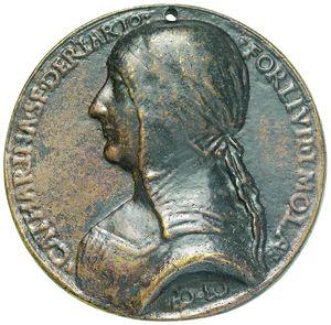 Artemide Aste - Asta XXVI: 703 - Forlì Caterina Sforza Riario (1463-1509) Medaglia in bronzo - Dea Moneta