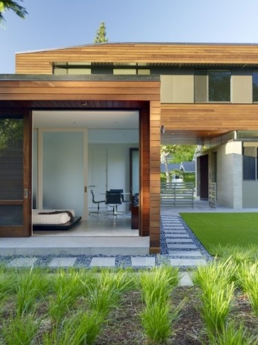 I love how the lines between the house and garden are blurred. By CCS Architecture, as seen on Houzz