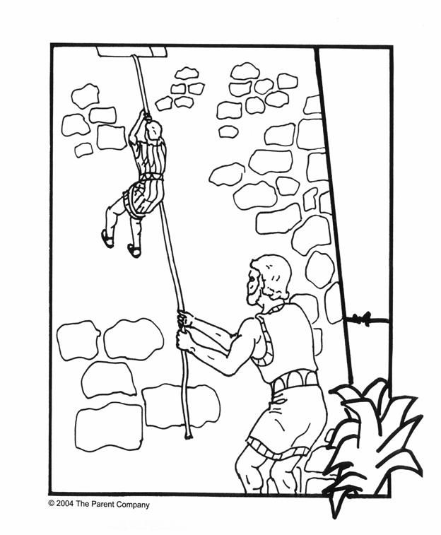 Coloring Pages Of Rahab And The Spies