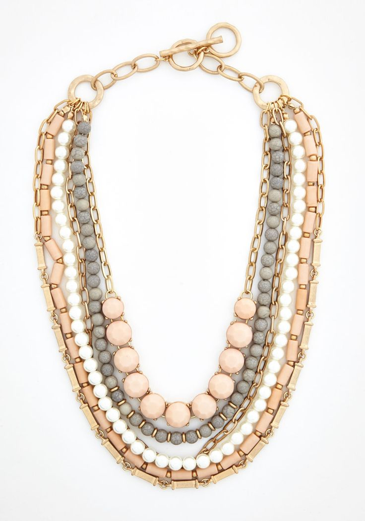 Yes You Glam Necklace. Wondering if you can sport this statement necklace with this ensemble or that look? #multi #modcloth