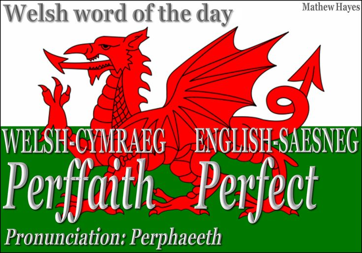 Welsh word of the day: Perffaith/Perfect