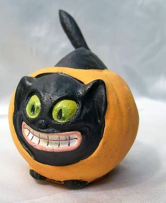 german black cat candy container - German Halloween Decorations