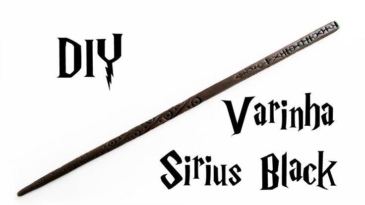 DIY: Varinha Sirius Black (HARRY POTTER WANDS Tutorial) Ideias Personalizadas - DIY