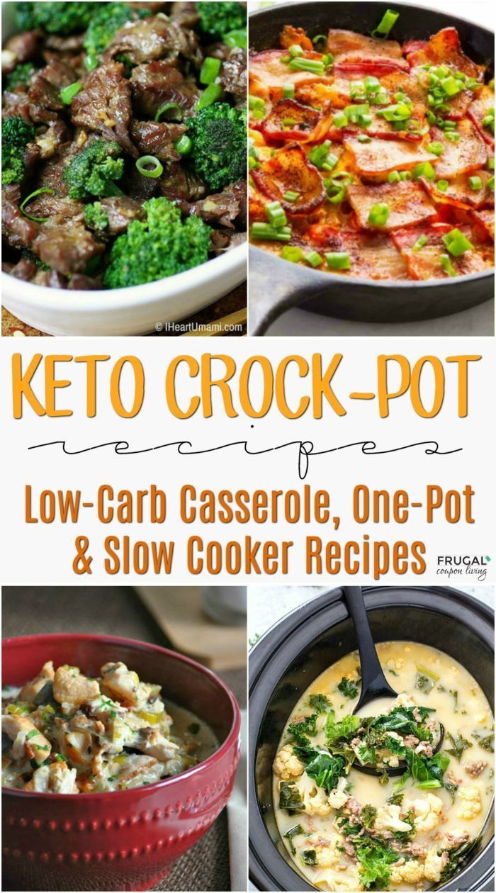 Slow Cooker Keto Recipes. Make It and Forget It Low-Carb Casserole, One-Pot & Sl...