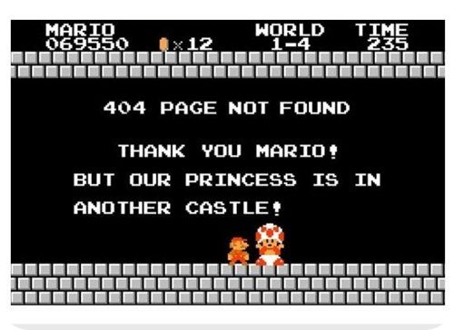 pages 404 Mario