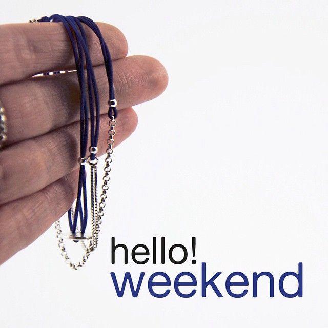 silver and blue bracelets | mieke de been • sieraden