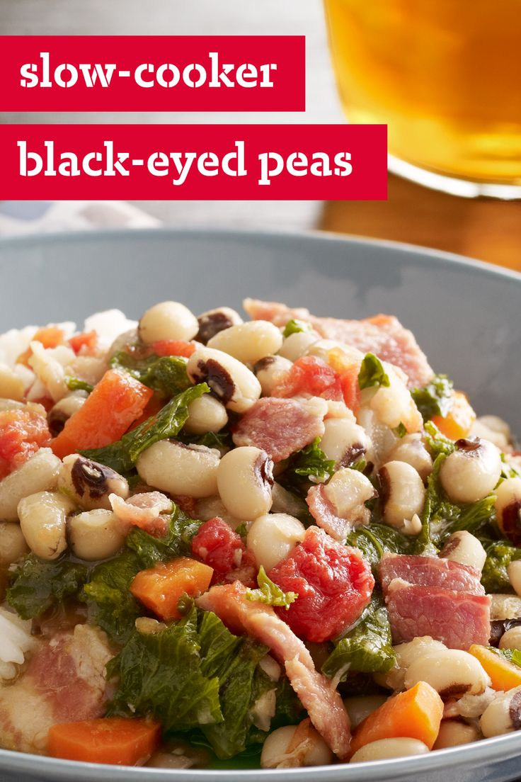 -Cooker Black-Eyed Peas – Ham and bacon lend their delicious smoky ...