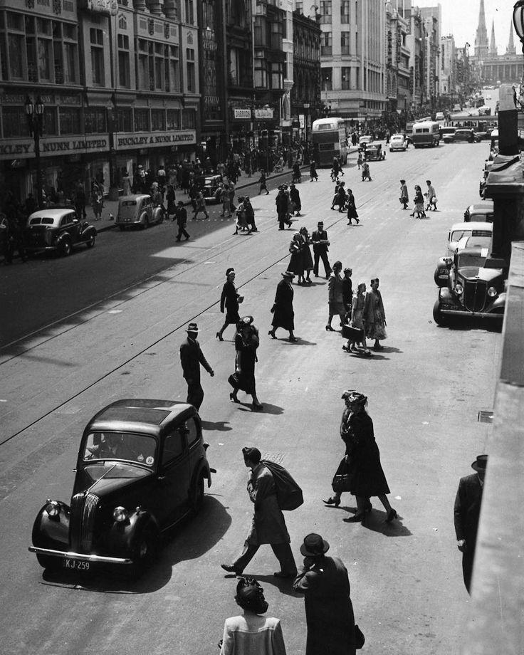1948. Bourke Street, Melbourne.  .