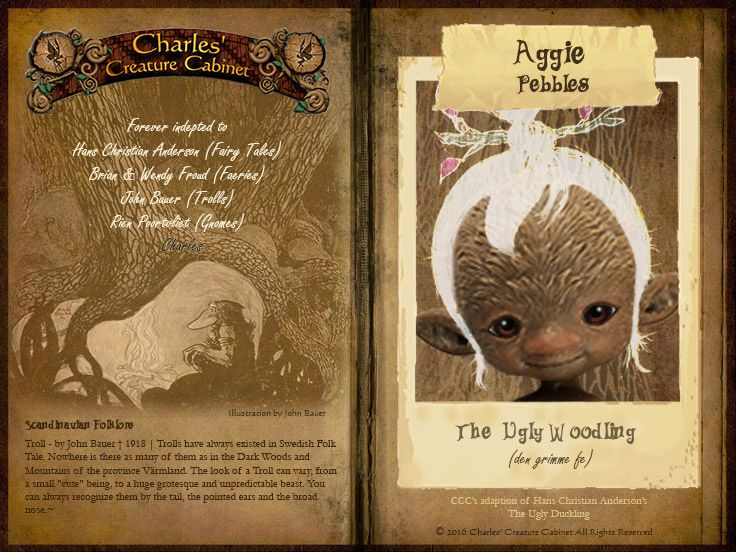Charles Stephan, from Charles' Creature Cabinet, has offered up a teaser of his upcoming ball jointed doll from The Ugly Woodling. The character is named Aggie Pebblesand was producedas a tribute to Brian & Wendy Froud, John Bauer and Han [...]