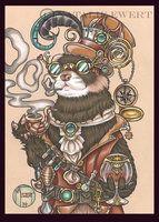 Octavius The Time Traveling Ferret by natamon
