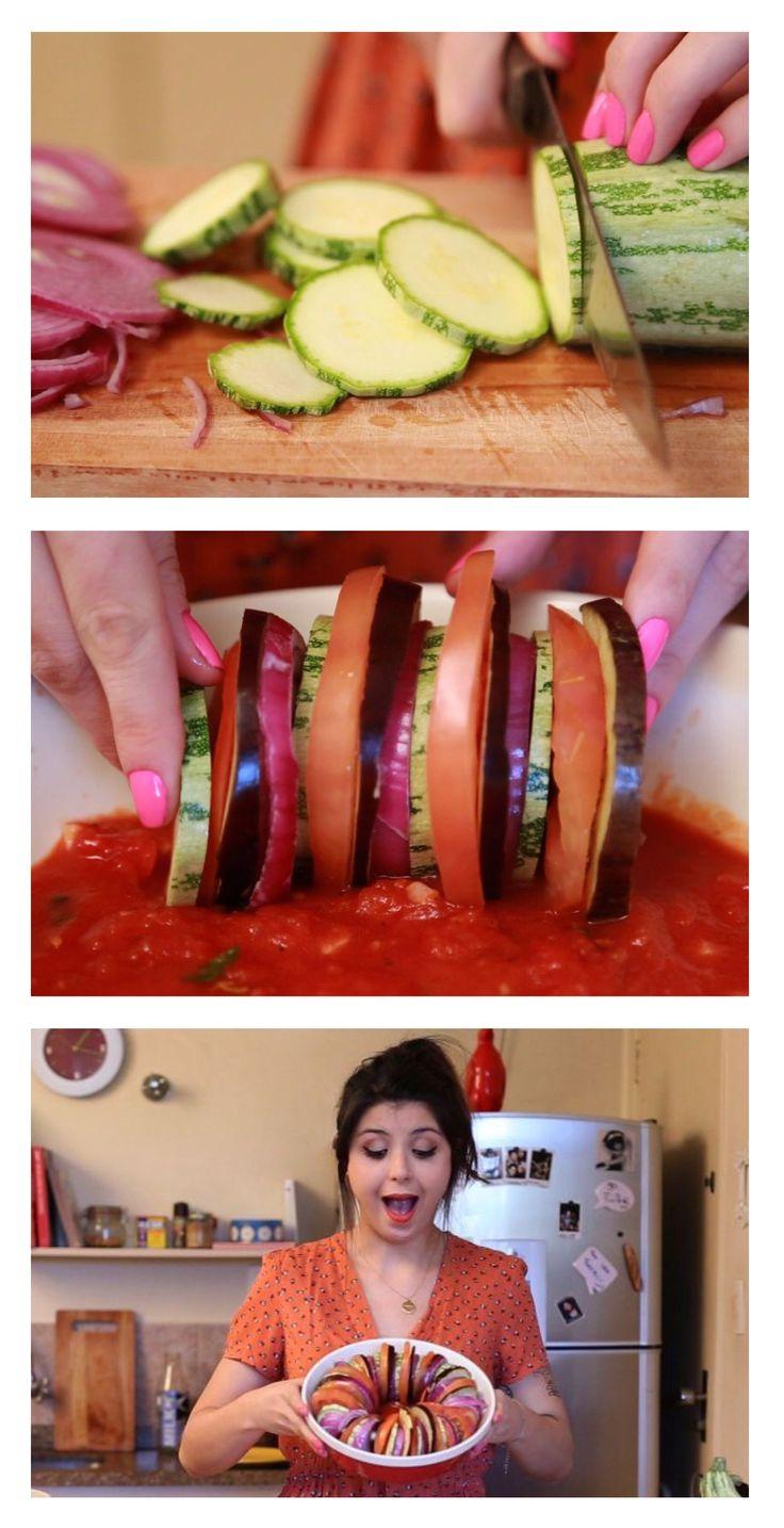 Ratatouille: a receita fresh e light mais deliciosa da vida! Abobrinha + Beringela + Cebola + Tomate + Molho de Tomate = <3