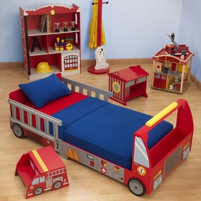 KidKraft Fire Truck Toddler Bed - even though I prefer modern & simple, this is too cute