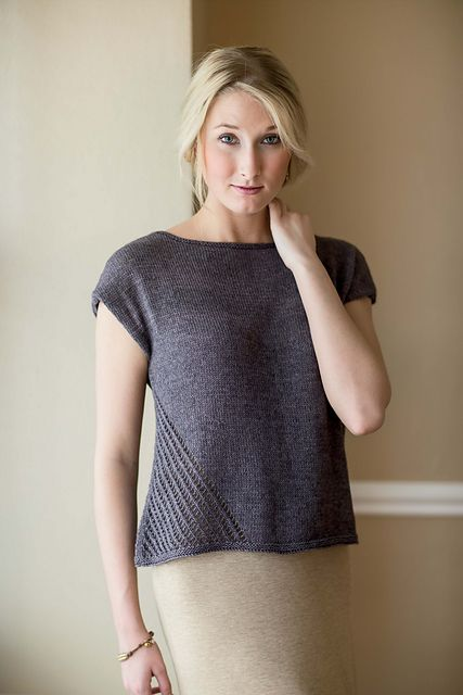 Clean modern lines add interest to this simple tee: Driftwood Tee pattern by Mercedes Tarasovich-Clark