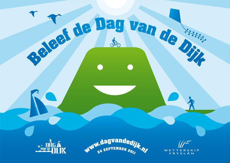 Simons en Boom: Poster, Campagne Gezamenlijke Waterschappen - Dag van de Dijk