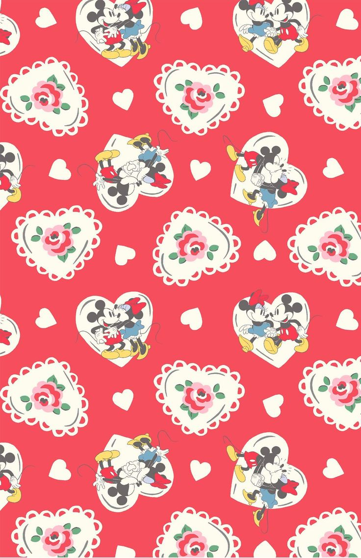 Mickey Hearts Minnie | A Mickey and Minnie love story in print form, brimming with hearts and flowers | Disney X Cath Kidston 2016 |
