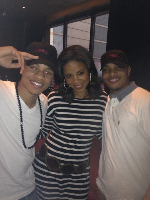 'Boss' Co-stars Sanaa Lathan, Rotimi, and TI Harris attend a cast dinner in Chicago.