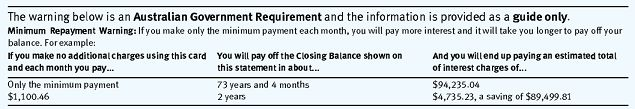 Credit Card statement TIPS
