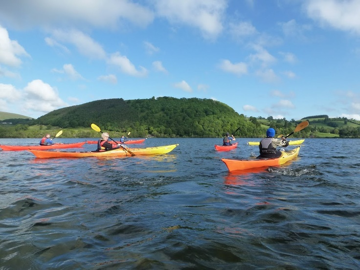 Sea kayaking in the Lake District on Ullswater lake with Distant Horizons