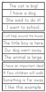 sight word phrase cards (Fry's).  Great to make into mini books with matching  pics by googling images.