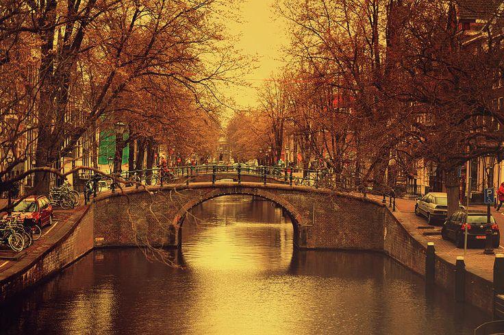 Retro Amsterdam by Jenny Rainbow.  #JennyRainbowFineArtPhotography #Amsterdam #Netherlands #Holland #FineArtPrints #ArtForHome #HomeDecor #Reflections