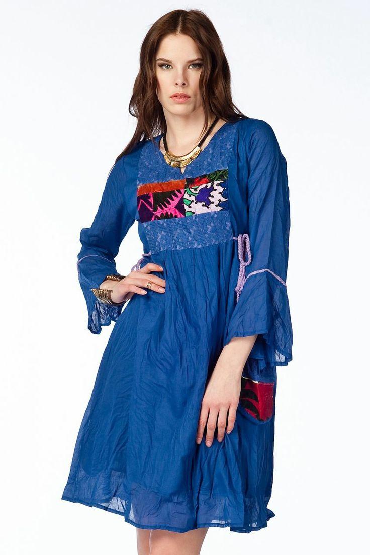 Otantik Köyceğiz Elbise - Saks