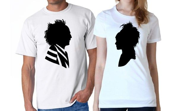 Beetlejuice Couple Digital Download Beetlejuice Lydia Deetz Iron On Transfer Dxf Svg Pdf Silhouette Cameo Jpeg Png Eps Tim Burton Silhouette Cameo Beetlejuice Things To Sell