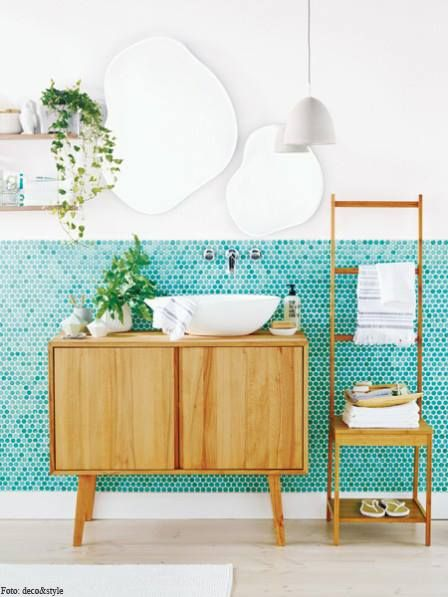arquitetura do imóvel: Banheiro organizado com ...