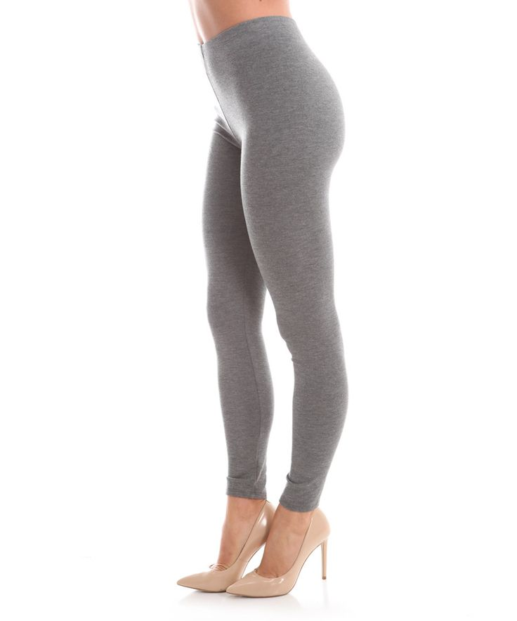 Loving this Magic Fit Heather Gray Leggings on #zulily! #zulilyfinds
