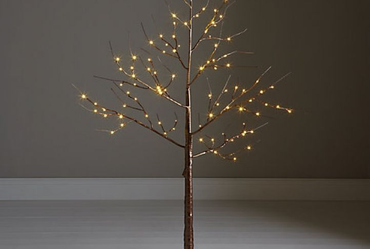 John Lewis Pre-Lit Copper Twig Tree, 4ft | Absolute Home