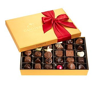 Godiva Chocolatier Holiday Gold Ballotin 36-Piece Assorted Gourmet Chocolates