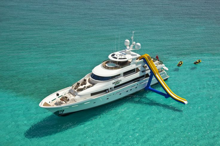 I would love to get on this! There is a slide and everything. Charterthatyacht.ccom
