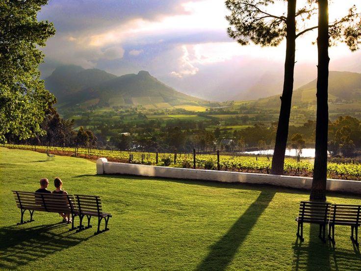 Franschhoek - Boland Wine district - Neighbouring town of Stellenbosch