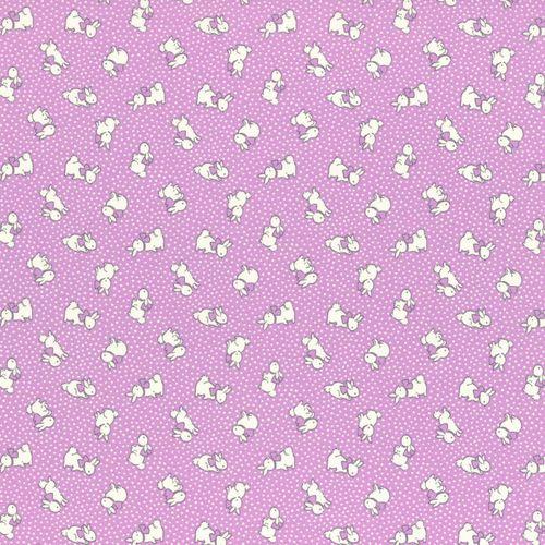1930s Reproduction - Little Bunnies Purple