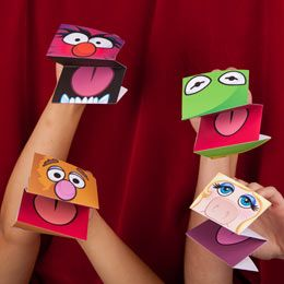 Easy Kids Activity - Printable Muppets Paper Hand Puppets