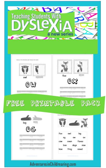 Brand new FREE Dyslexia Worksheet Pack - Overcoming Dyslexia Series