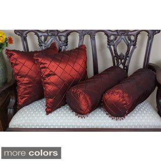 Shop for Blazing Needles Beaded Satin Sheen Polyester Throw Pillows (Set of 4). Get free shipping at Overstock.com - Your Online Home Decor Outlet Store! Get 5% in rewards with Club O! - 16117139