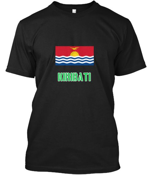 Kiribati Flag Stencil Green Design Black T-Shirt Front - This is the perfect gift for someone who loves Kiribati. Thank you for visiting my page (Related terms: I Heart Kiribati,Kiribati,Kirghiz,Kiribati Travel,I Love My Country,Kiribati Flag, Kiribati Map,Kiri #Kiribati, #Kiribatishirts...)