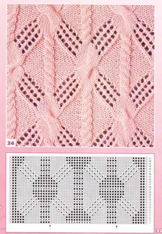 nice beautiful knitting stitch pattern lace aran красивые узоры на спицах click to large ... like the cable
