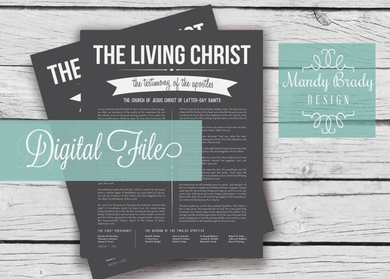The Living Christ - Digital Printable File, LDS Home Decor, Family Proclamation, Proclamation on the Family