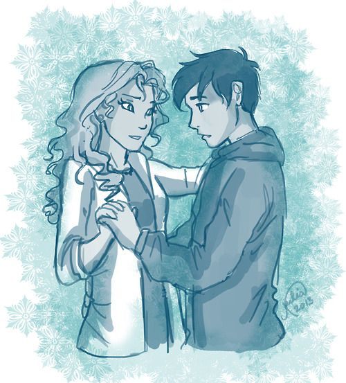 """""""I looked nervously at Annabeth, then at the groups of girls who were roaming the gym.  'Well?' Annabeth said.  'Um, who should I ask?'  She punched me in the gut. 'Me, Seaweed Brain.'""""  -The Titan's Curse- Source: juliajm15"""