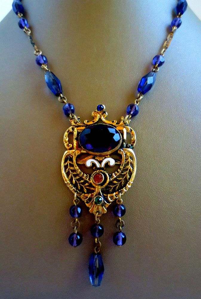 moon glass pendant necklace crescent chain blue cosmic galaxy dp